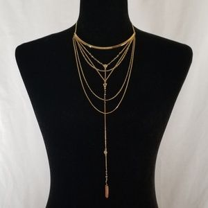 Express Gold Multiple Chain Necklace